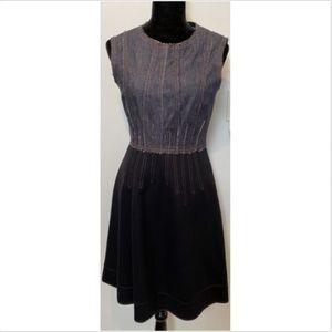 SPORTMAX CODE Blue denim and wool dress